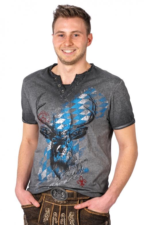 44de72ca84d7af Hangowear Trachten T-Shirt FERDI Bavaria grau - bestellen