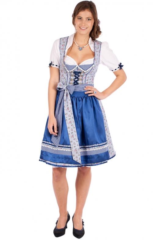 f971d147702b23 Krüger Dirndl Mini Dirnd Veronika 2tlg. 50cm blau - bestellen